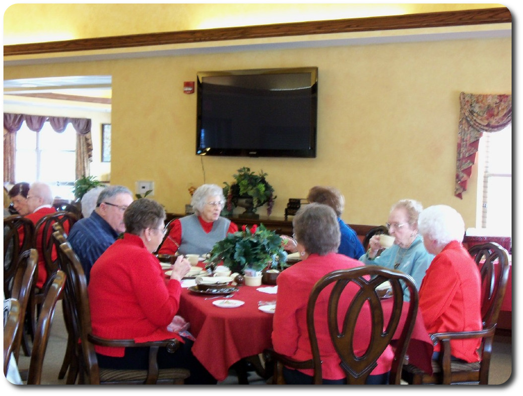Valentine luncheon with family & friends.