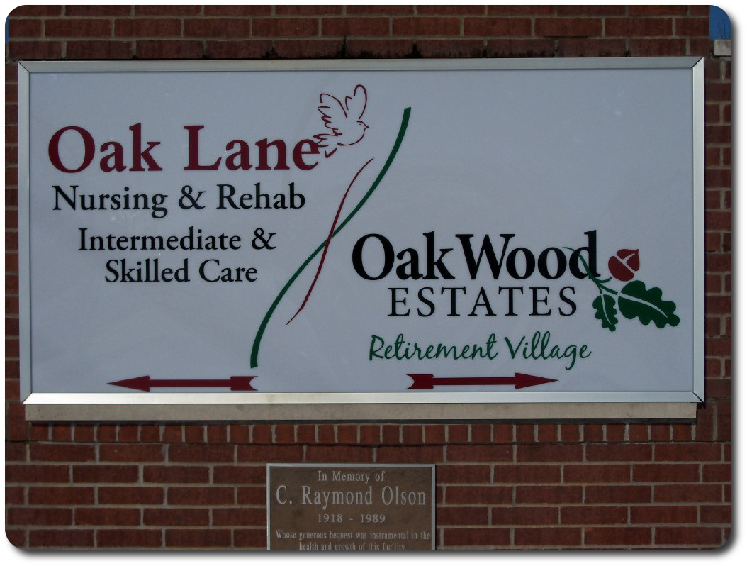 Front sign for Supportive Living and the Nursing Home.