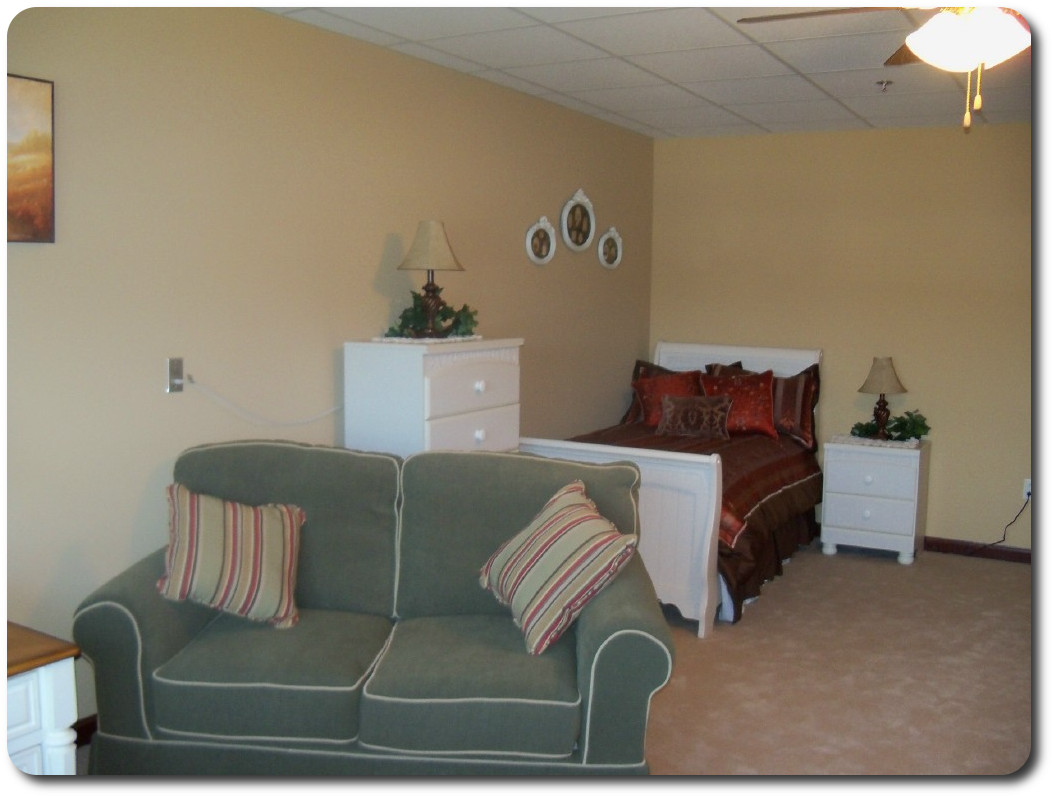 A single suite, we encourage residents to make their rooms as home like as possible.